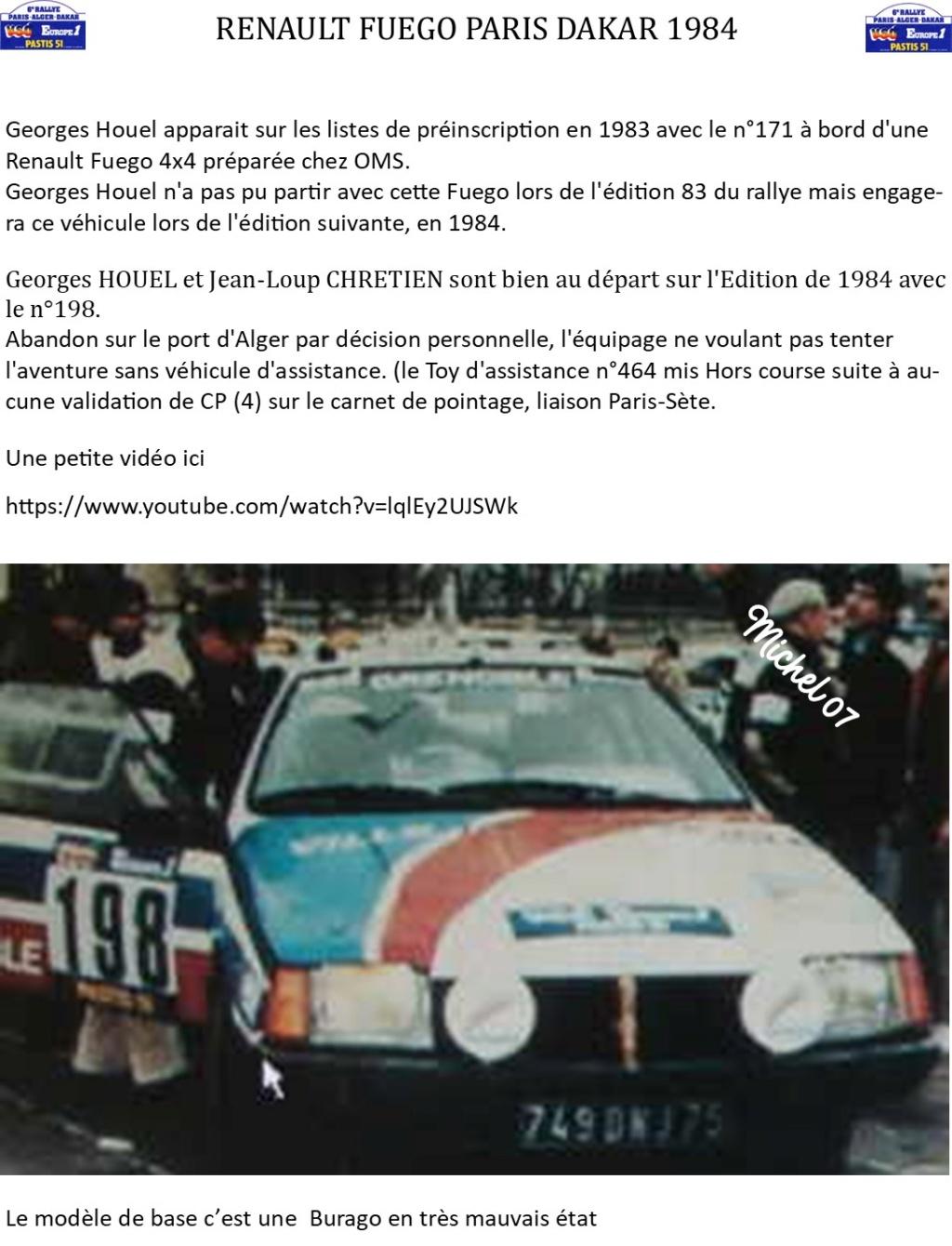 Défi 2020 - Renault Fuego 1/24 Paris Dakar 1984 Image240