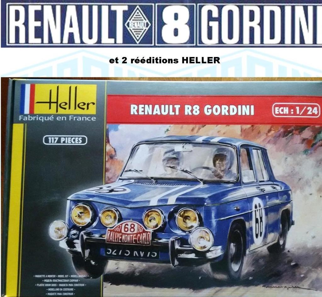 Trois Renault 8 gordini Heller 1/24 Image243