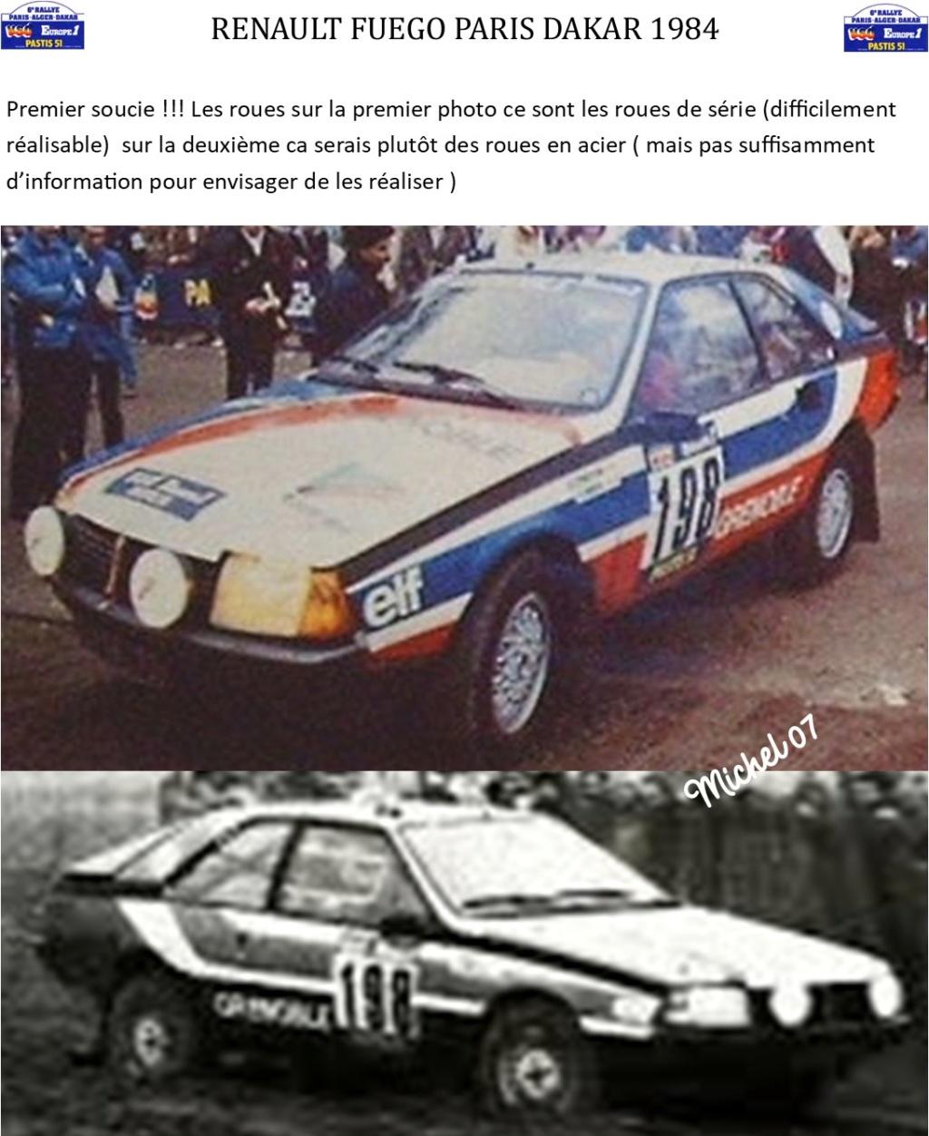 Défi 2020 - Renault Fuego 1/24 Paris Dakar 1984 Image334