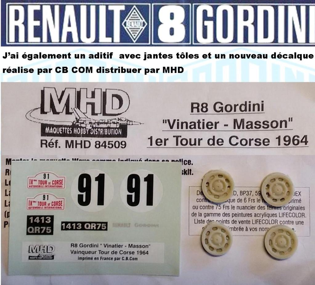 Trois Renault 8 gordini Heller 1/24 Image335