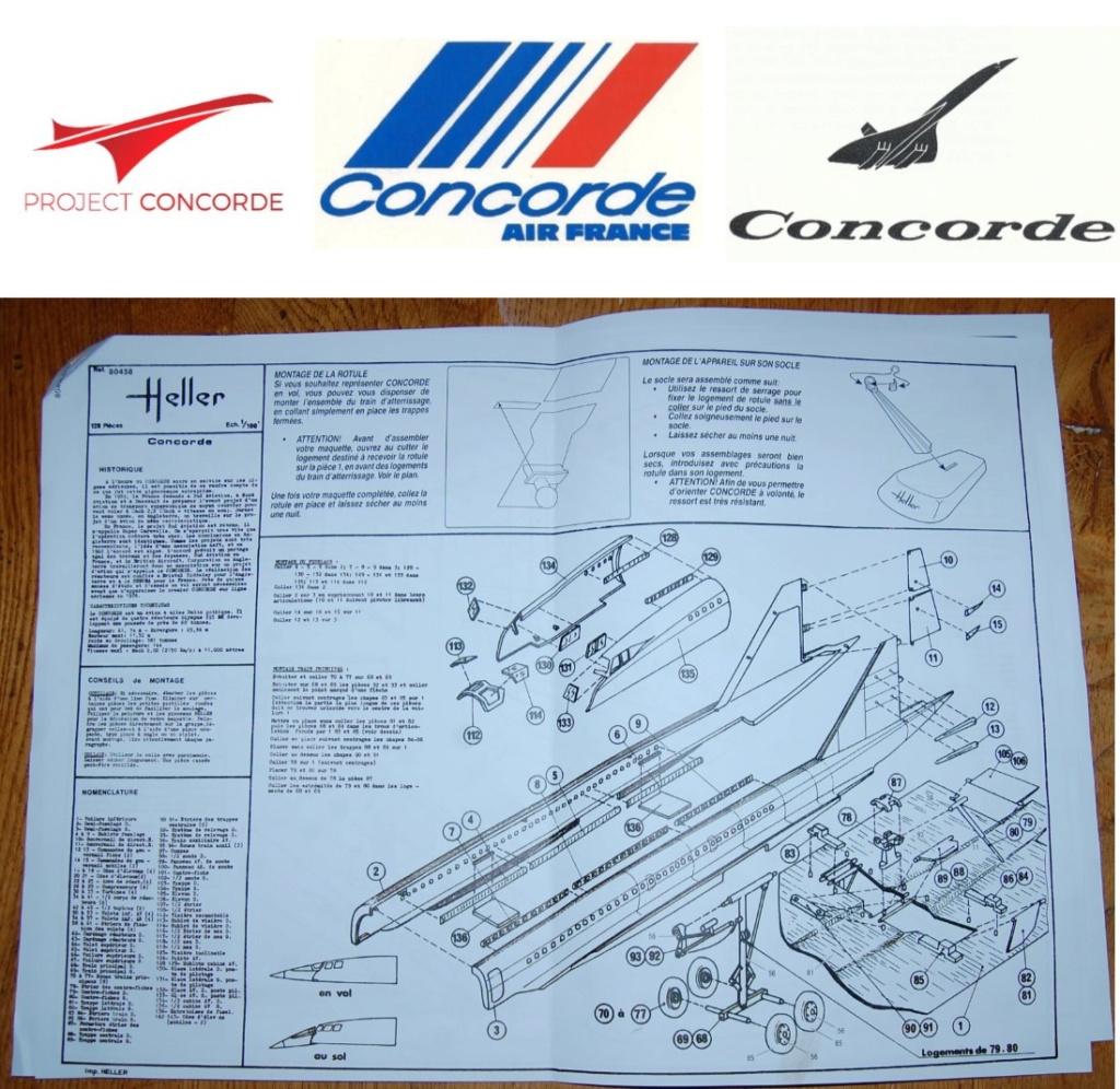 SUD AVIATION - BRITISH AIRCRAFT CORPORATION  CONCORDE Cie AIR FRANCE 1/100ème Réf 80458 Image610