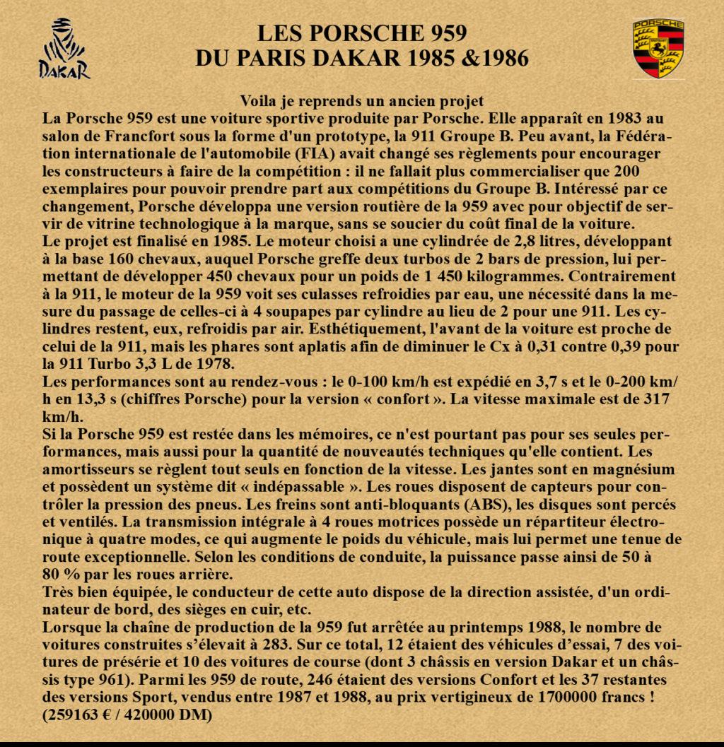 Porsche 959 Paris Dakar 1985 & 1986 Image712