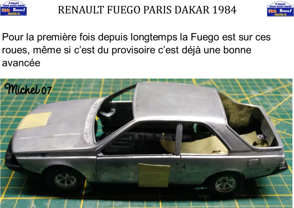 Défi 2020 - Renault Fuego 1/24 Paris Dakar 1984 Image714