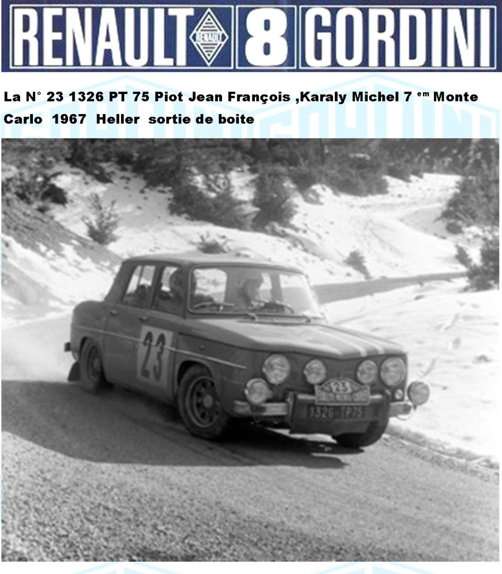 Trois Renault 8 gordini Heller 1/24 Image814