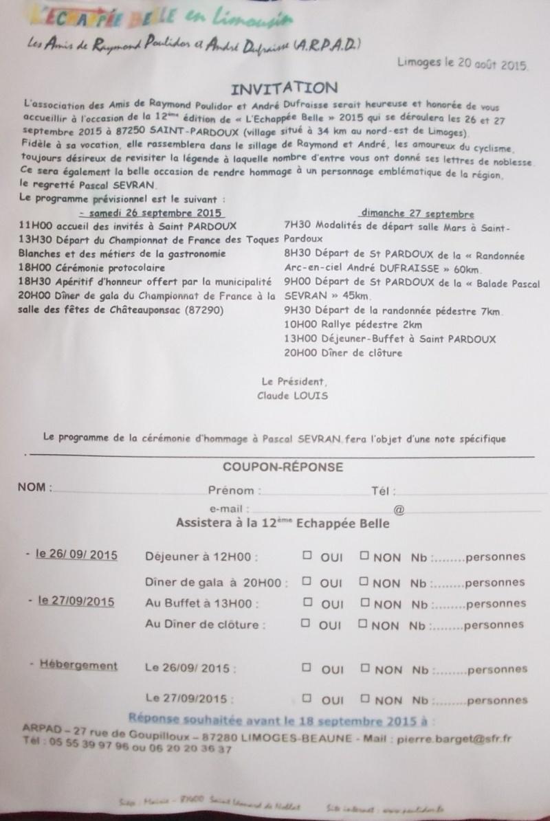 """"""" l'échappée belle """", a St PARDOUX  87250  le dimanche 27 septembre 2015  Dscn6818"""