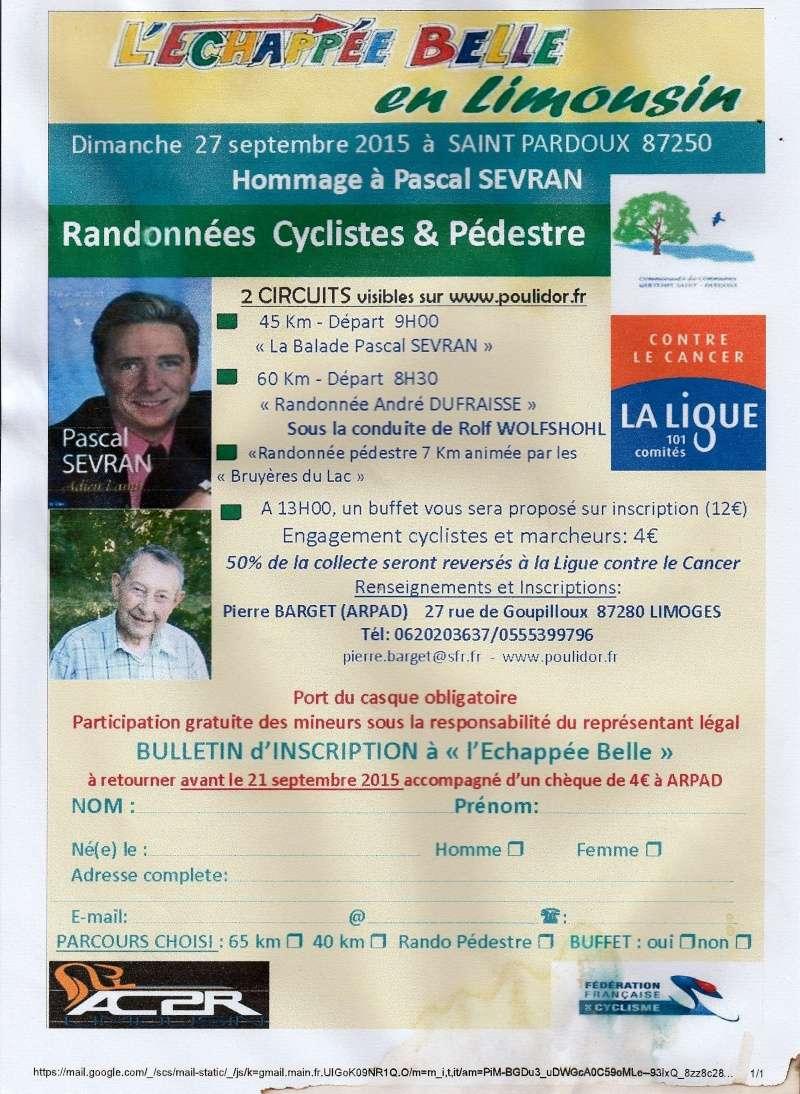 """"""" l'échappée belle """", a St PARDOUX  87250  le dimanche 27 septembre 2015  L_ycha10"""