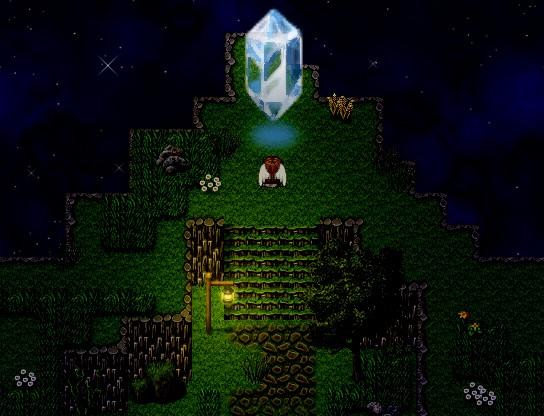 un tileset avec un cristal géant Crista10