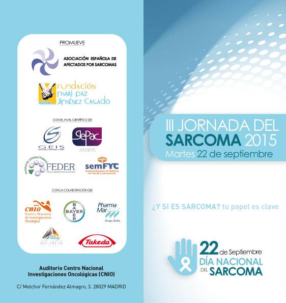 III JORNADA DEL SARCOMA 2015 Diptic10