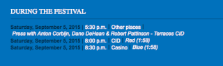 ROB CONFIRMED TO ATTEND PRESS AT DEAUVILLE FILM FESTIVAL  31410