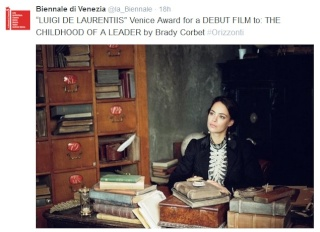 THE CHILDHOOD OF A LEADER WINS 2 AWARDS AT VENICE FILM FESTIVAL 9511