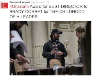 THE CHILDHOOD OF A LEADER WINS 2 AWARDS AT VENICE FILM FESTIVAL 9611