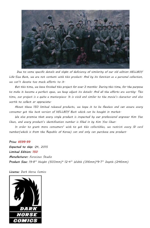 FEROCIOUS STUDIO : HELLBOY - BUST 1/1 18164110