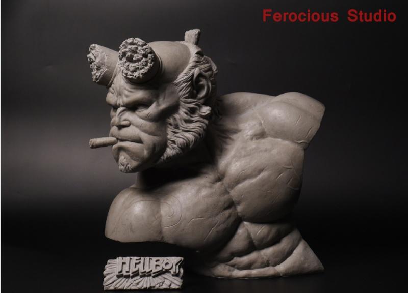 FEROCIOUS STUDIO : HELLBOY - BUST 1/1 18164410