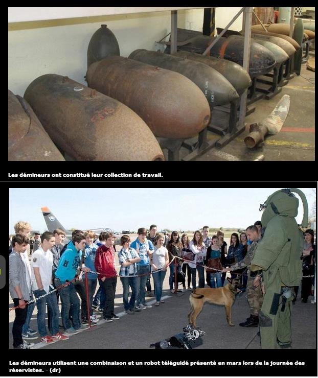 Les démineurs militaires de la BA 705 Ba70510