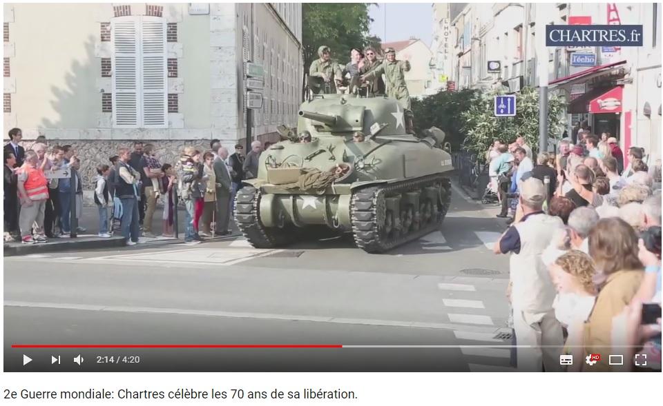 les 70 ans de la libération de Chartres (2014) Chartr18