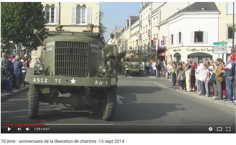 les 70 ans de la libération de Chartres (2014) Chartr21