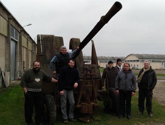 L'Historial militaire de Chartres et de l'Eure-et-Loir a reçu un ancien canon antiaérien Echo610