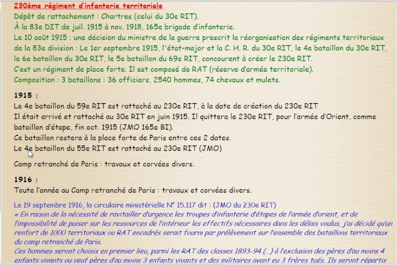 Quelques informations Histo110