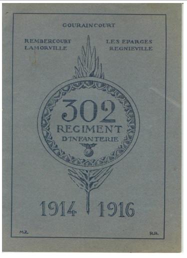 Historique du 302° régiment d'infanterie Livre12
