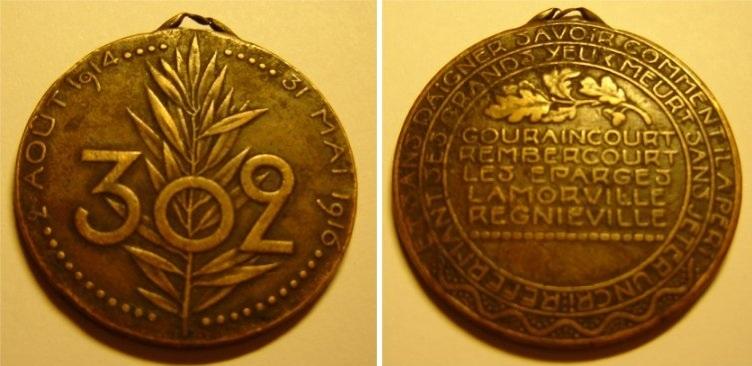 Médaille du 302° Medail10