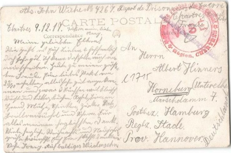 Photo et correspondance d'un prisonnier allemand Prison11