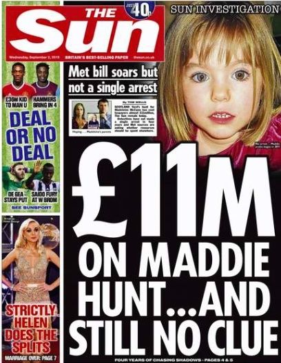 £11M ON MADDIE HUNT .. AND STILL NO CLUE Screen10