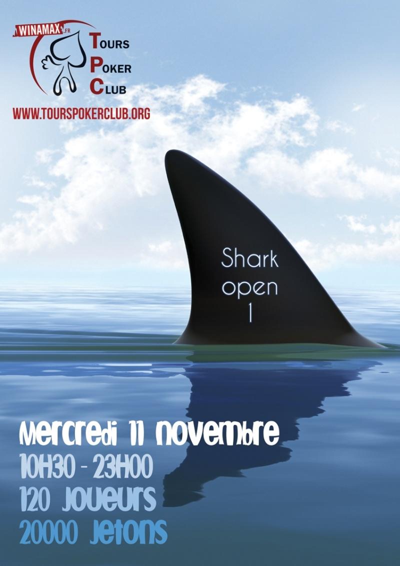 LE SHARK OPEN 1 AU TOURS POKER CLUB - LE 11.11.2015 Affich10