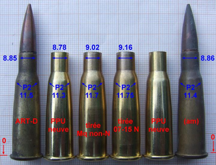 "Rechargement du 8 x 51 R ""Lebel"" / balle D & TPM327D Douill10"