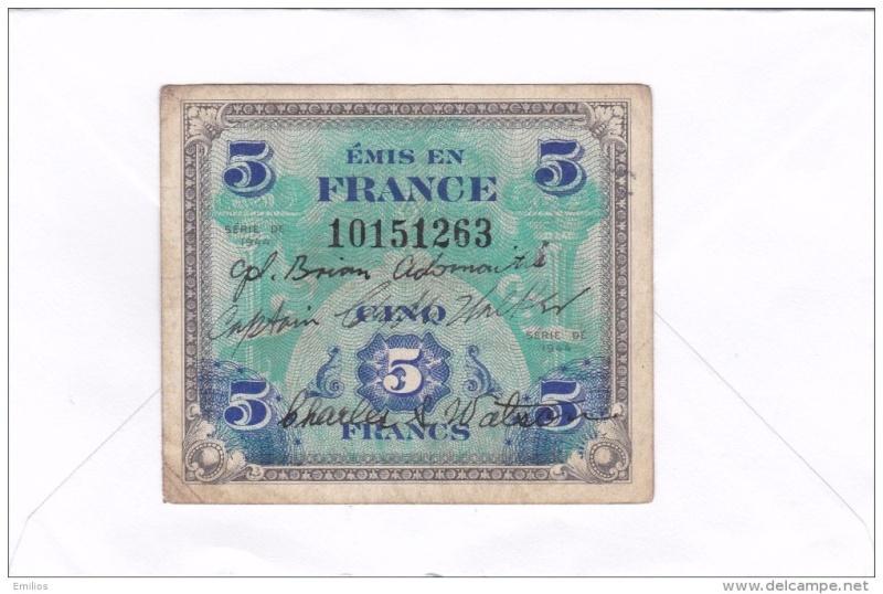 Billet d'invasion US avec noms soldats 858_0010