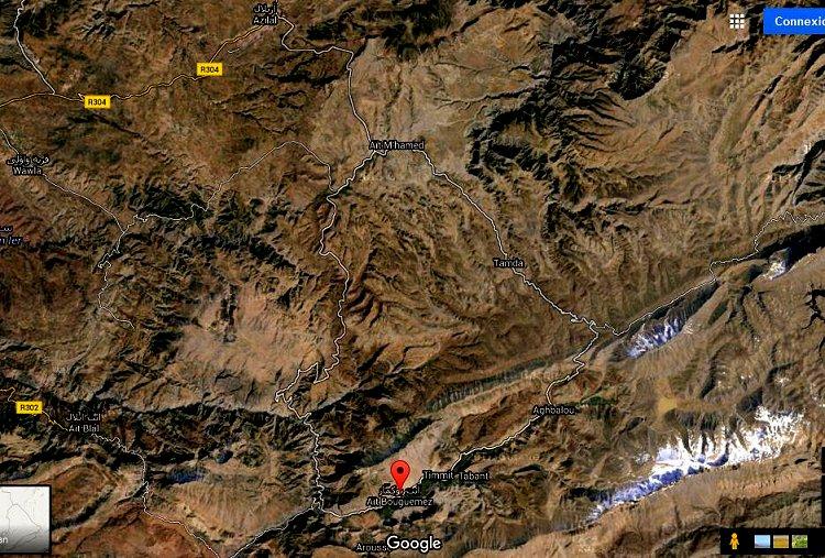 Azilal vallée Ait bouguemez carte photos et vue satellite Ait_bo11