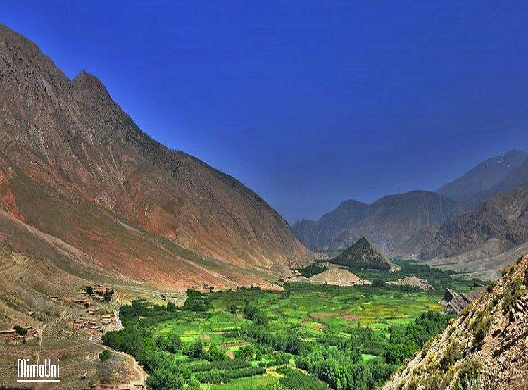 Azilal vallée Ait bouguemez carte photos et vue satellite Ait_bo13