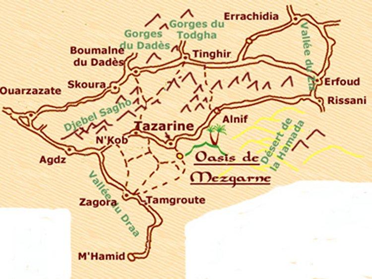 amazigh - Osez aller voir l'Amazigh qui a fait main basse sur oasis palmeraie et ksours Plan-o11