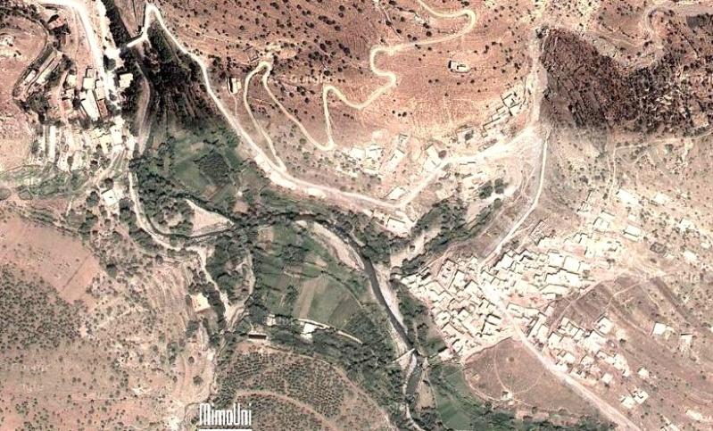 Azilal vallée Ait bouguemez carte photos et vue satellite Zaouia10
