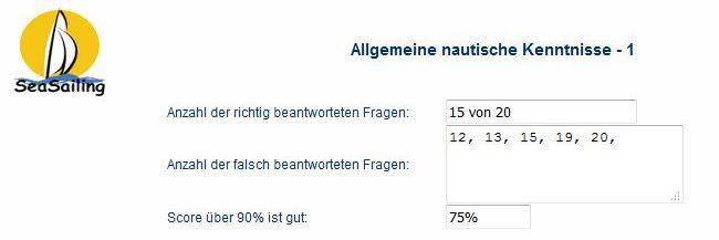 Link - Fragebogen allgemeine nautische Kenntnisse 219