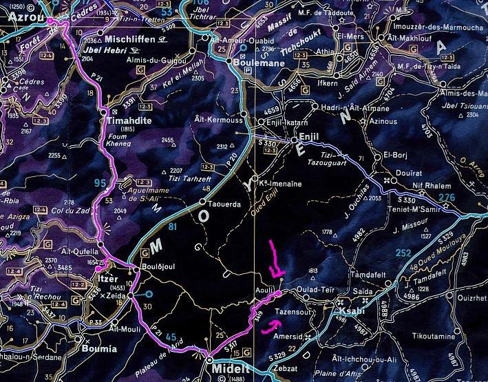 carte Mibladen le pays de la vanaldinite berbere Midlet10