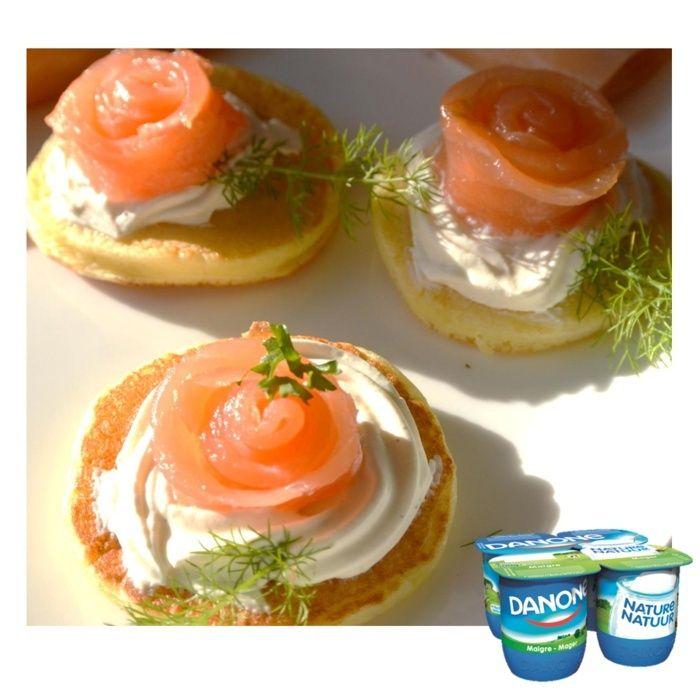 Blinis au yaourt et saumon fumé   Blinis10