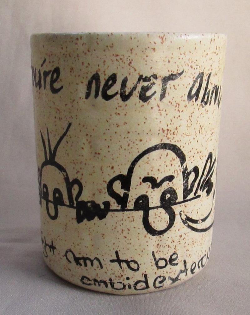 Graffiti Brick Wall shape Mug was made by Titian Potteries Img_3516