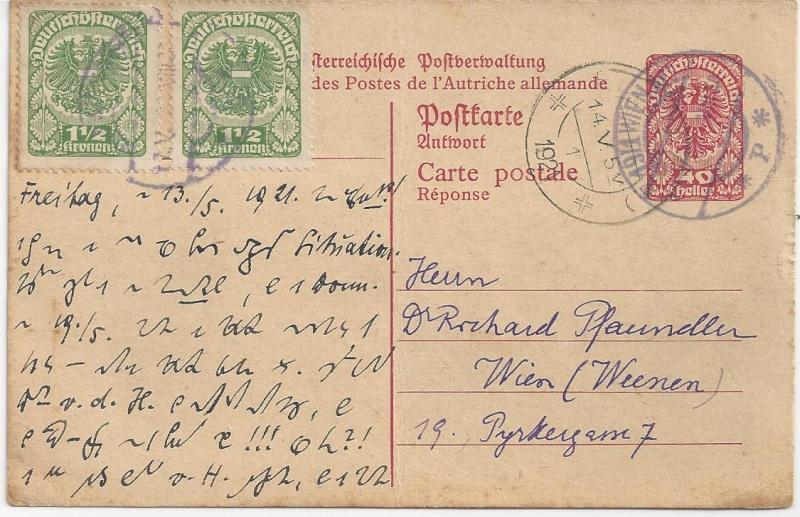 Inflation in Österreich - Belege - 1918 bis 1925 - Seite 5 Bild13
