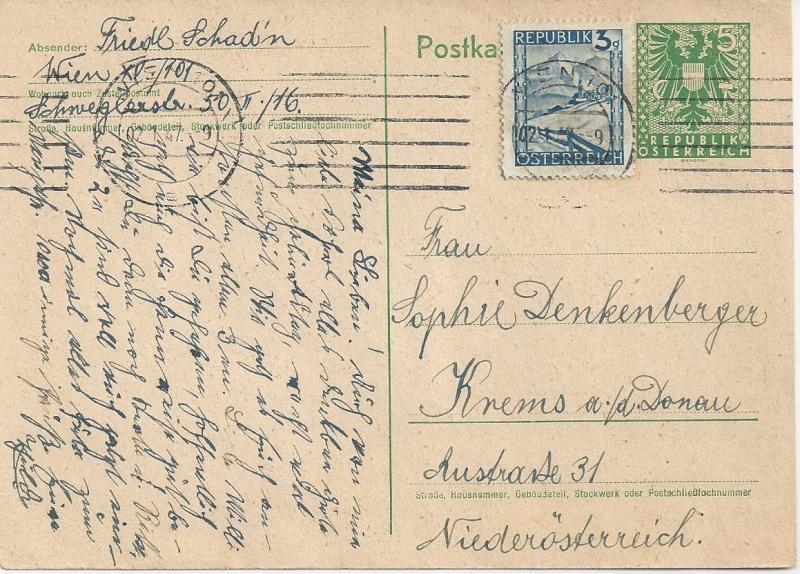 Bedarfspost Ganzsachen Österreich 1945-1947 Bild19