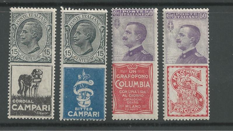 Briefmarken - Briefmarken mit Zierfeldern Allongen (bedruckte Zierfelder) Bild29