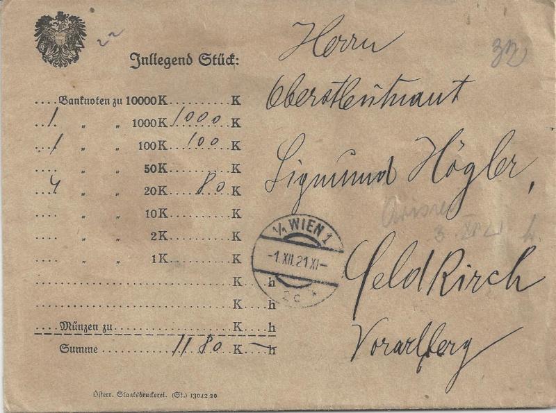 Inflation in Österreich - Belege - 1918 bis 1925 - Seite 6 Bild55