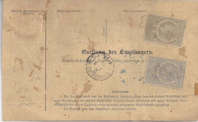 Postbegleitadressen mit fiskalischem Werteindruck Bild_218