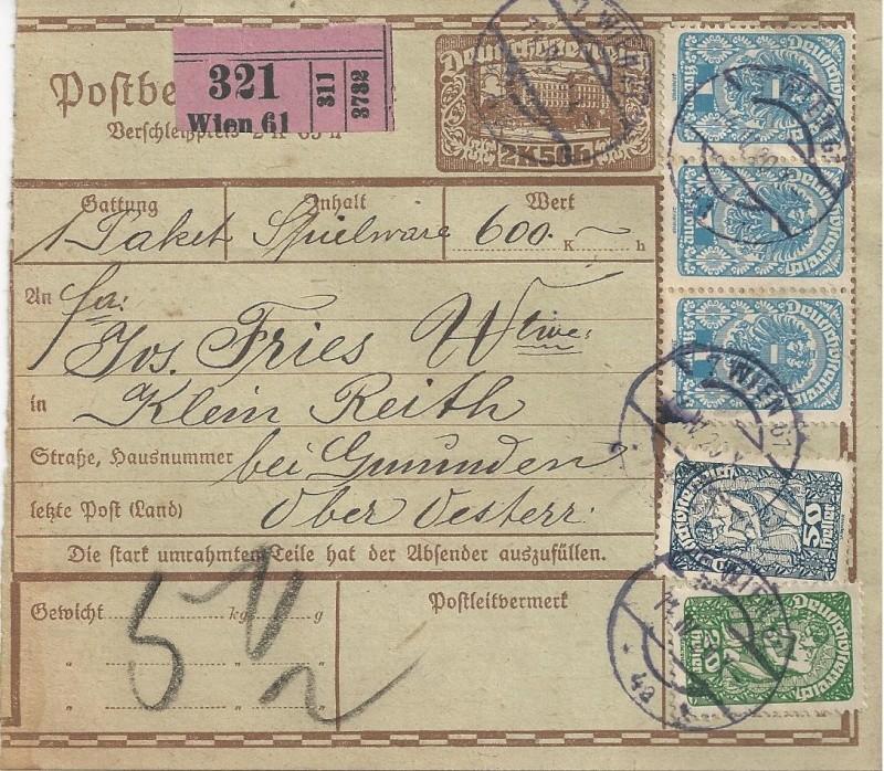 Inflation in Österreich - Belege - 1918 bis 1925 - Seite 5 Bild_223