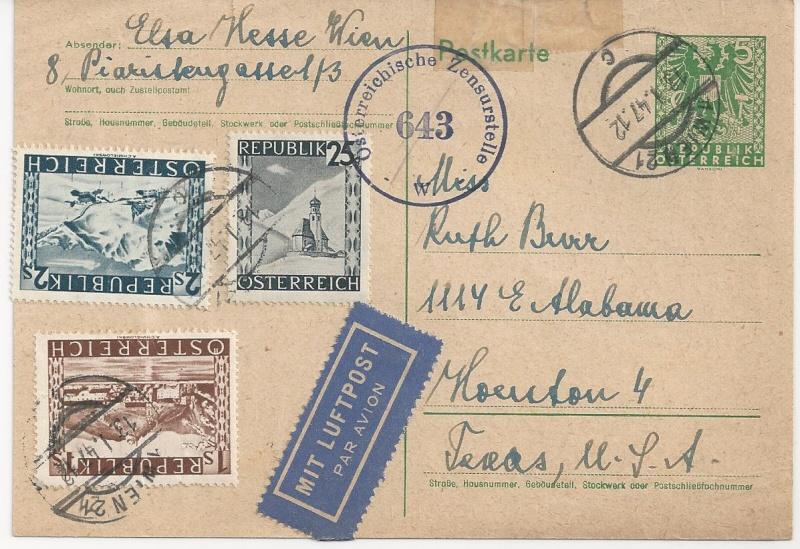 Bedarfspost Ganzsachen Österreich 1945-1947 Bild_414
