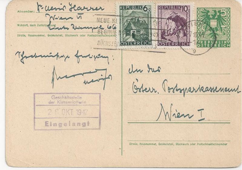 Bedarfspost Ganzsachen Österreich 1945-1947 Bild_515