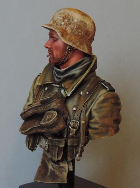 Buste infanterie Allemande, front Russe 1943, FINI... Dscn1955