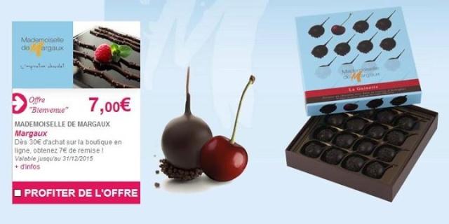Bénéficiez de 7€ de remise dès 30€ d'achat sur la boutique en ligne Mademoiselle de Margaux 12004810