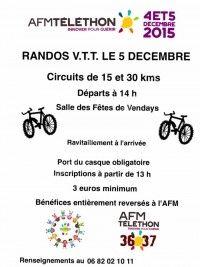 Rando VTT au profit du Téléthon le 5 Décembre 2015 à Vendays Montalivet F2d64610