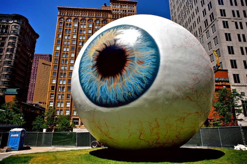 """The Eye"" : sculptures de Tony Tasset 47728210"