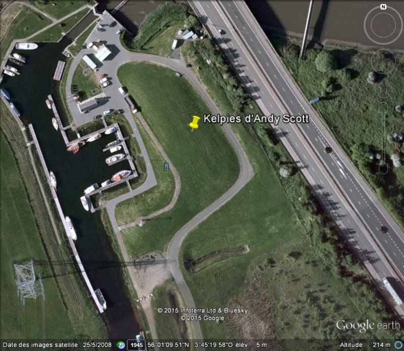 [Enfin visible sur Google Earth] - Les Kelpies d'Andy Scott - Falkirk - Ecosse - UK C16
